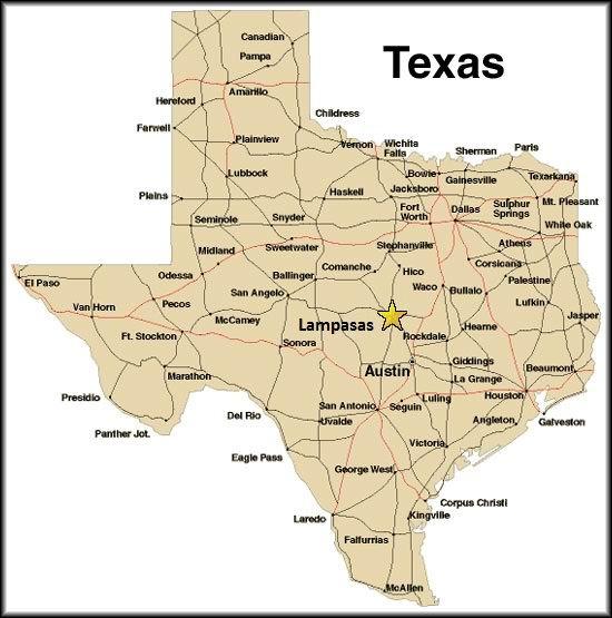 Lampasas Texas Map