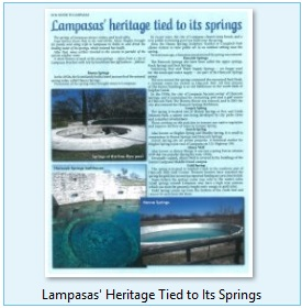 Lampasas Heritage Tied to Its Springs