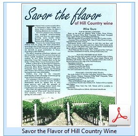 Savor the Flavor of Hill Country Wine